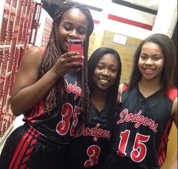 AFES Girls Basketball - Having Fun