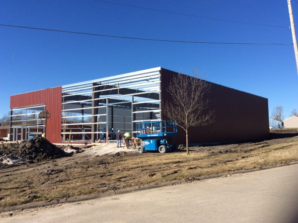 AFES MLK Rec Center building progress 2015