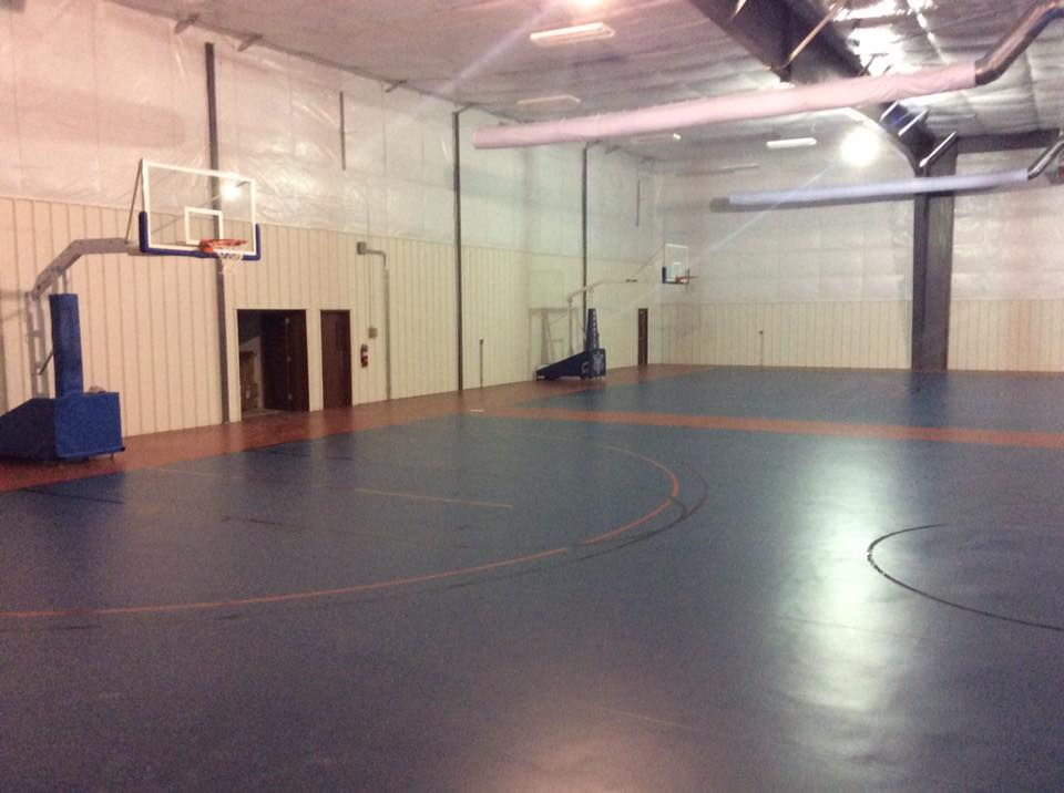 AFES MLK Rec Center - Gym Floor Basketball Hoops